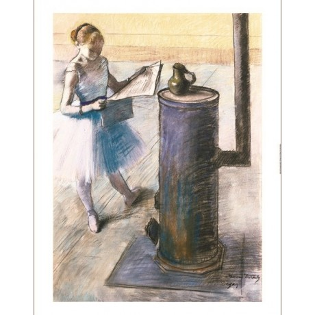 "EDGAR DEGAS ""Dancer Resting"" print ON CANVAS choose SIZE, from 55cm upwards, NEW"