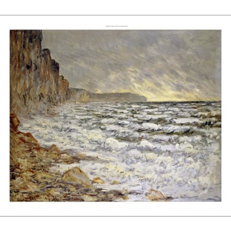 "CLAUDE MONET ""Seafront, Fecamp"" print ON CANVAS choose SIZE, from 55cm up, NEW"