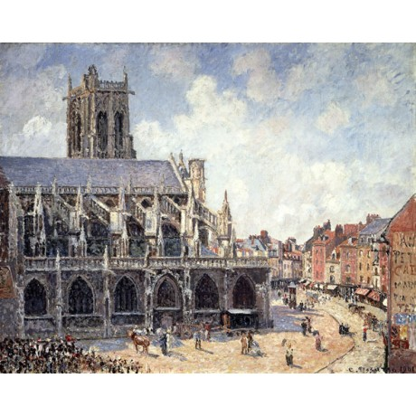 CAMILLE PISSARRO The Church of Saint Jacques in Dieppe in the Morning Sun NEW!