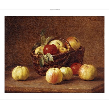 "HENRI FANTIN-LATOUR ""Apples In A Basket"" print NEW choose SIZE, from 55cm up"