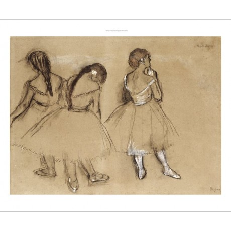 "EDGAR DEGAS ""Three Dancers"" print ON CANVAS choose SIZE, from 55cm upwards, NEW"