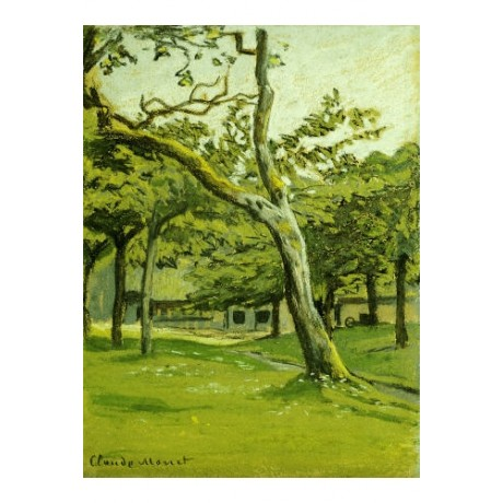 "CLAUDE MONET ""An Orchard"" print ON CANVAS choose SIZE, from 55cm upwards, NEW"