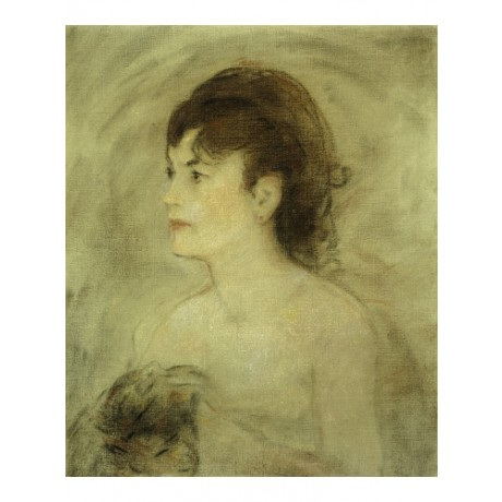 "EDOUARD MANET ""Jeune Femme Decollete"" BARE neck shoulders thoughtful NEW CANVAS"