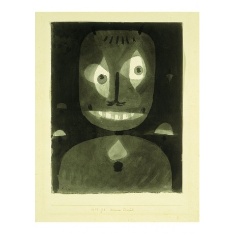 "PAUL KLEE ""Dummer Teufel"" CRAZY devil dementia eyeball night psychosis CANVAS"