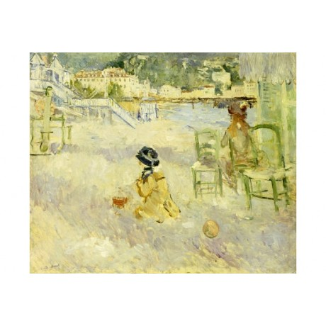 "BERTHE MORISOT ""Plage De Nice"" sand print ON CANVAS various SIZES available, NEW"