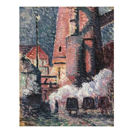 MAXIMILIEN LUCE Charleroi FACTORY industry pollution night NEW CANVAS PRINT!!!