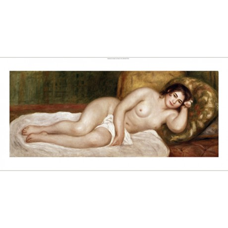 "PIERRE AUGUSTE RENOIR ""Reclining Bather"" CANVAS print! various SIZES, BRAND NEW"