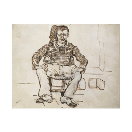 "VINCENT VAN GOGH ""The Zouave, Seated"" BROWSE our shop! various SIZES, BRAND NEW"