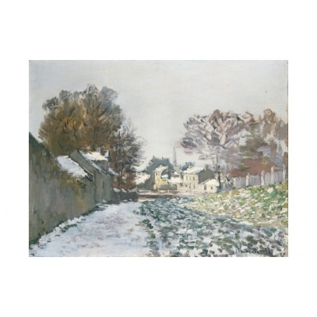 "CLAUDE MONET ""Snow At Argenteuil"" BROWSE our eBay shop! various SIZES, BRAND NEW"