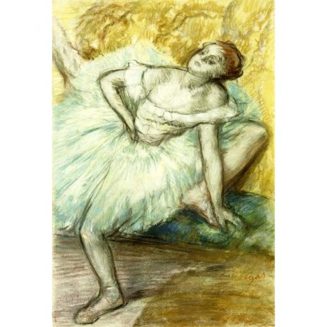 EDGAR DEGAS Dancer ballerina STRETCHING tutu performer woman NEW CANVAS PRINT!