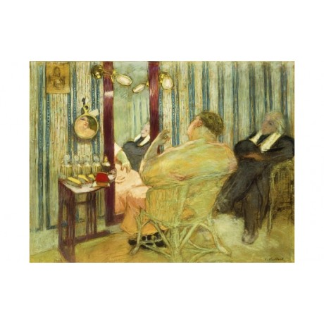 "EDOUARD VUILLARD ""Sacha Guitry In His Dressing Room"" OVERWEIGHT stripe CANVAS"