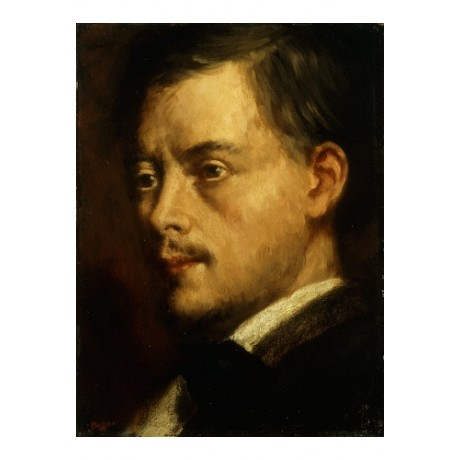 "EDGAR DEGAS ""Head Of A Man"" PROFILE moustache serious shoulder modern CANVAS"