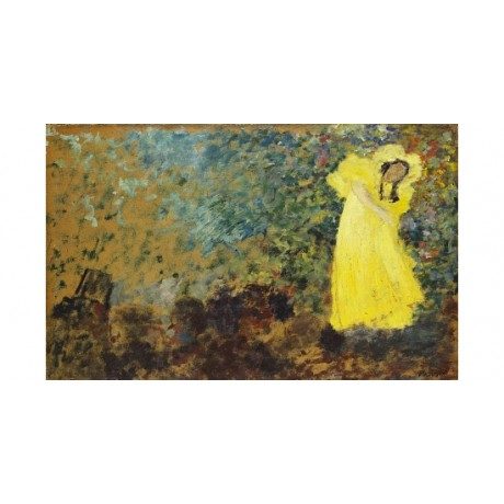 EDOUARD VUILLARD May Belfort On Stage ACTRESS yellow play theatre CANVAS PRINT