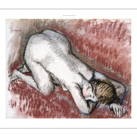 "EDGAR DEGAS ""Naked Woman Kneeling"" BROWSE our shop! various SIZES available, NEW"