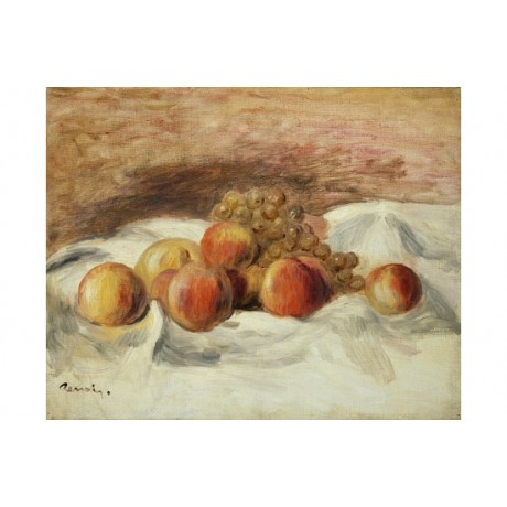 "PIERRE AUGUSTE RENOIR ""Still Life With Peaches"" CANVAS! various SIZES, BRAND NEW"