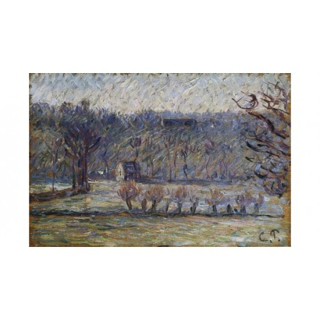 "CAMILLE PISSARRO ""The Cow Pasture Bazincourt"" ON CANVAS various SIZES, BRAND NEW"