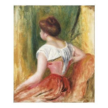 "PIERRE AUGUSTE RENOIR ""Young Woman Sitting"" ON CANVAS! various SIZES, BRAND NEW"