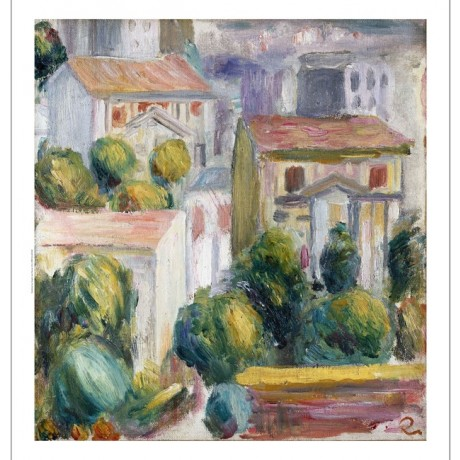 "PIERRE AUGUSTE RENOIR ""House At Cagnes"" CANVAS print! various SIZES, BRAND NEW"