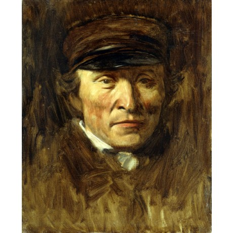 """EDGAR DEGAS """"Jerome Ottoz"""" portrait of a serious MAN in suit and hat NEW CANVAS"""