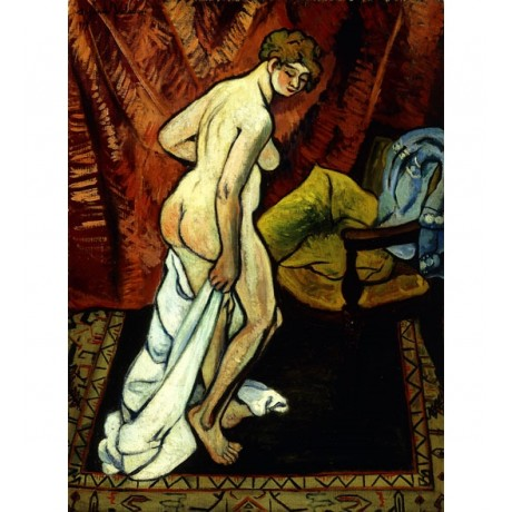SUZANNE VALADON Standing Nude with Towel MODERN naked breast buttock ON CANVAS