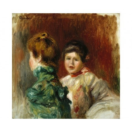 "PIERRE AUGUSTE RENOIR ""Heads Of Two Women"" ON CANVAS! various SIZES, BRAND NEW"