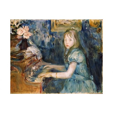 "BERTHE MORISOT ""Lucie Leon At Piano"" music print choose SIZE, from 55cm up, NEW"