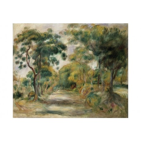 "PIERRE AUGUSTE RENOIR ""Landscape At Noon"" CANVAS print! various SIZES, BRAND NEW"