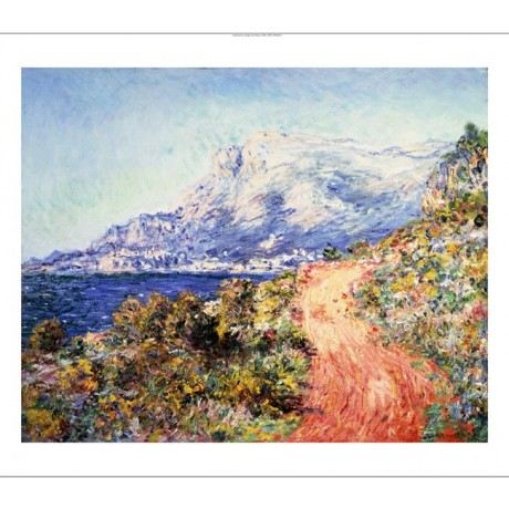 "CLAUDE MONET ""The Red Road Near Menton"" CANVAS print! various SIZES, BRAND NEW"