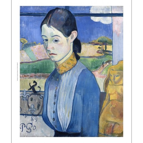 "PAUL GAUGUIN ""A Young Breton Woman"" print ON CANVAS various SIZES available, NEW"