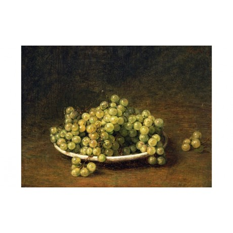 "HENRI FANTIN-LATOUR ""White Grapes"" PRINT ON CANVAS choose SIZE, from 55cm up"