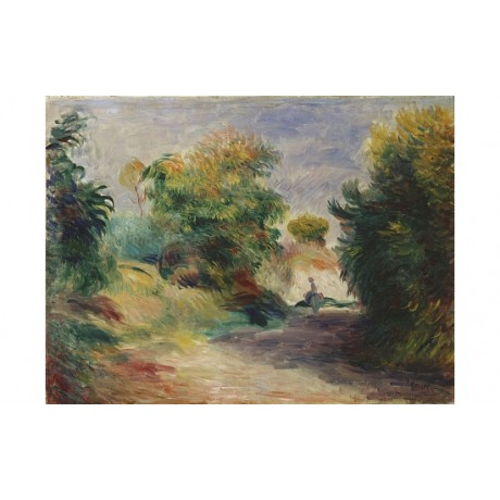 "PIERRE AUGUSTE RENOIR ""Landscape Near Cagnes"" ON CANVAS various SIZES, BRAND NEW"