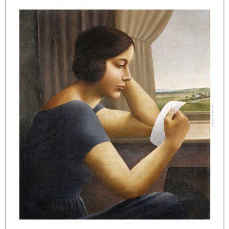 GEORG SCHRIMPF Martha letter window REALISM reading contemplation CANVAS PRINT