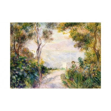 "PIERRE-AUGUSTE RENOIR ""Paysage, Dessus De Cheminee"" NEW various SIZES, BRAND NEW"