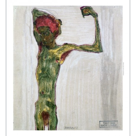 "EGON SCHIELE ""Anarchist"" 5000+ PRINTS in our eBay SHOP! various SIZES, BRAND NEW"