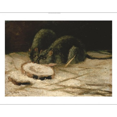 "VINCENT VAN GOGH ""Two Rats"" 5000+ PRINTS in our SHOP! various SIZES, BRAND NEW"