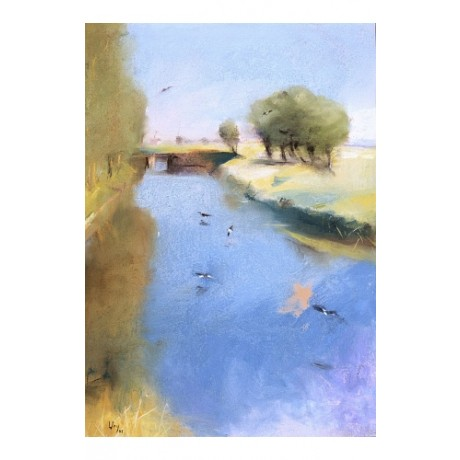 "LESSEY URY ""Landscape With A Canal"" BROWSE our shop! various SIZES available"