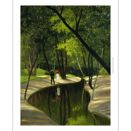 VALLOTTON Paysage Boulogne DREAMSCAPE courting couple green magical NEW CANVAS