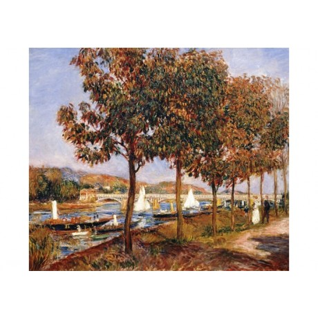 "PIERRE-AUGUSTE RENOIR ""Bridge At Argenteuil"" PRINT choose SIZE, from 55cm up"