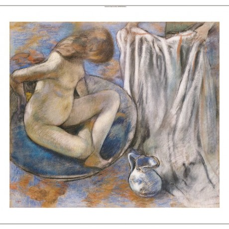 "EDGAR DEGAS ""Woman In Tub"" nude print ON CANVAS choose your SIZE, from 55cm up"