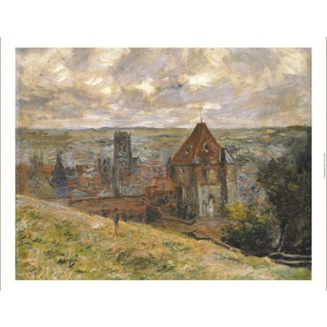 "CLAUDE MONET ""Dieppe"" landscape print ON CANVAS choose SIZE, from 55cm up, NEW"