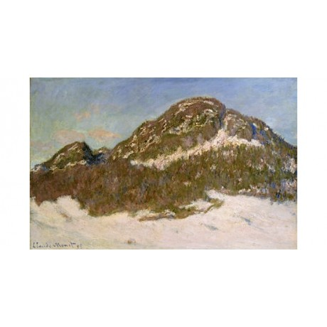 "CLAUDE MONET ""Mount Kolsaas"" PRINT ON CANVAS choose SIZE, from 55cm upwards, NEW"
