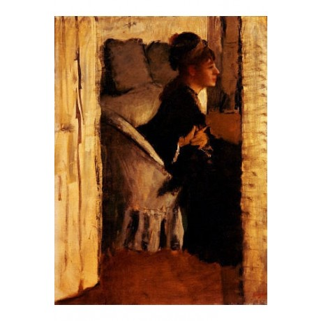 "EDGAR DEGAS ""Woman Putting On Her Gloves"" CANVAS ART ! various SIZES, BRAND NEW"