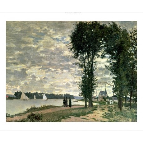 "CLAUDE MONET ""Banks Of Seine At Argenteuil"" PRINT choose SIZE, from 55cm up, NEW"