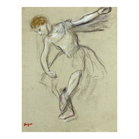 "EDGAR DEGAS ""A Dancer In Profile"" print ON CANVAS choose SIZE, from 55cm up, NEW"