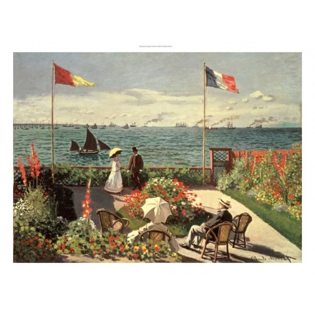 "CLAUDE MONET ""Terrace At Sainte-Adresse"" Boat Print various SIZES available, NEW"