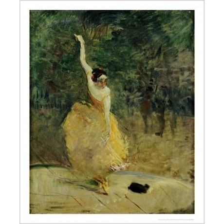 "HENRI DE TOULOUSE-LAUTREC ""Spanish Dancer"" ON CANVAS various SIZES available"
