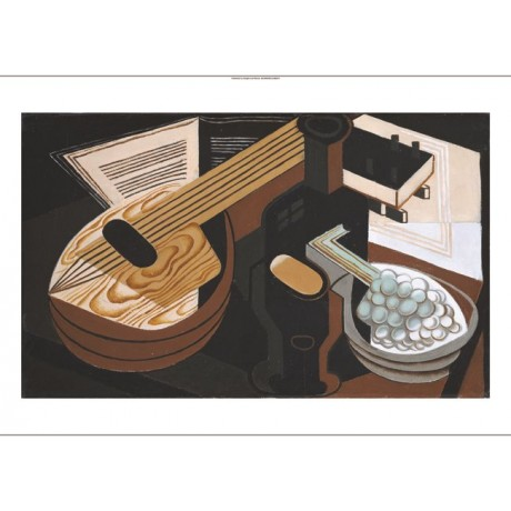 "JUAN GRIS ""Mandolin"" abstract CANVAS EDITION choose SIZE, from 55cm upwards, NEW"