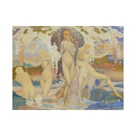 "PHILIPPOL ""Bathers"" nude print CANVAS NEW choose SIZE, from 55cm upwards, NEW"