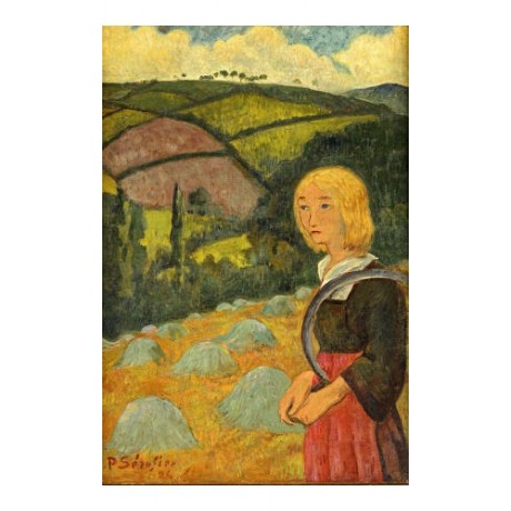 "PAUL SERUSIER ""Young Breton Girl And Haystacks"" print various SIZES, BRAND NEW"