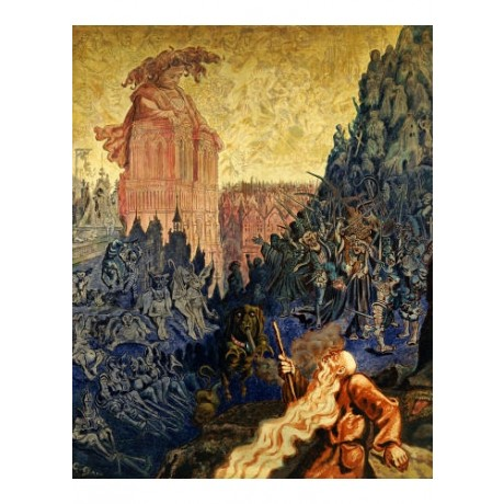 "GUSTAVE DORE ""Wandering Jew And Gargantua"" ON CANVAS various SIZES available"